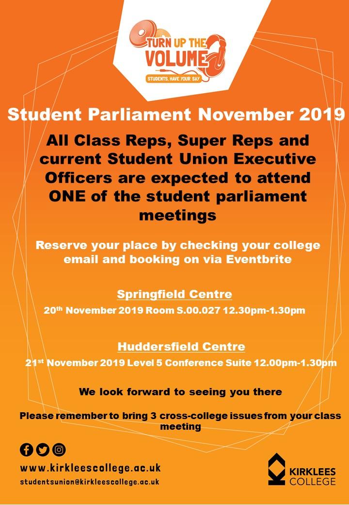 Student Parliament November 2019